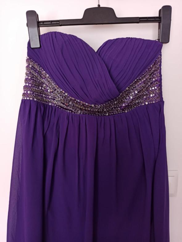 Sukienka Quiz fioletowa 46 wieczorowa...