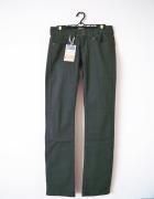 NOWE szare jeansy spodnie klasyczne proste basic...