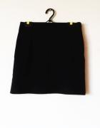 Czarna elegancka spódnica mini klasyczna biuro...