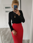 Spódnica plus size w malinowym kolorze