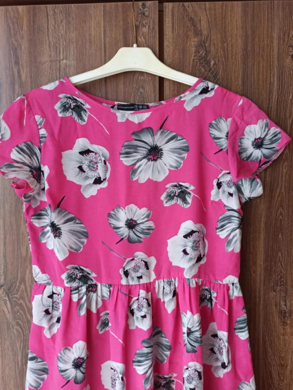 Sukienka różowa Atmosphere w kwiaty S