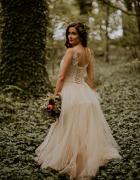 Suknia ślubna gorset od s do xl Mega kolor piękna...