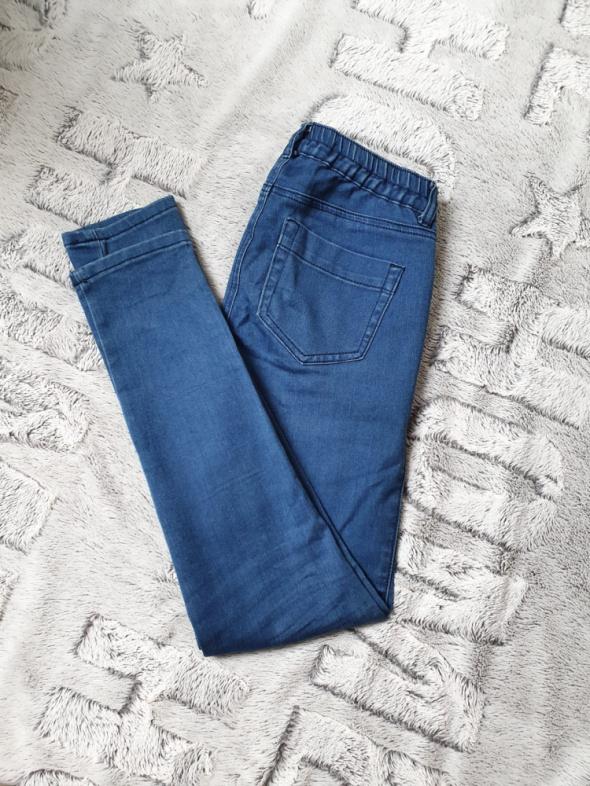 Jeansy rurki obcisłe skinny niebieskie wysoki stan S...