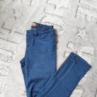Jeansy rurki obcisłe skinny niebieskie wysoki stan S