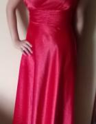 Czerwona długa suknia wieczorowa...