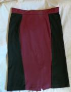 Bordowo czarna wyszczuplająca spódnica...