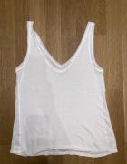 Top bluzka Promod 36 biała wizytowa letnia szara...