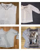 bluzka koszulka kremowa H&M S Stradivarius S Promod S Esmara 36...