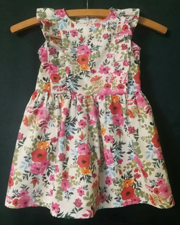 Sukienka w kwiatki bawełniana 98 104