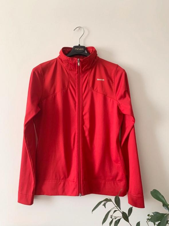 Reebok bluza sportowa czerwona rozpinana L XL