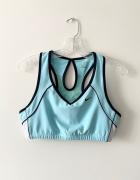 Nike baby blue sportowy stank top crossfit siłownia fitness L...