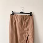 Mohito spódnica karmelowa z eko skóry zip L