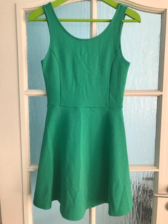 zielona sukienka h&m 36 s...