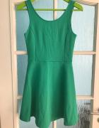 zielona sukienka h&m 36 s