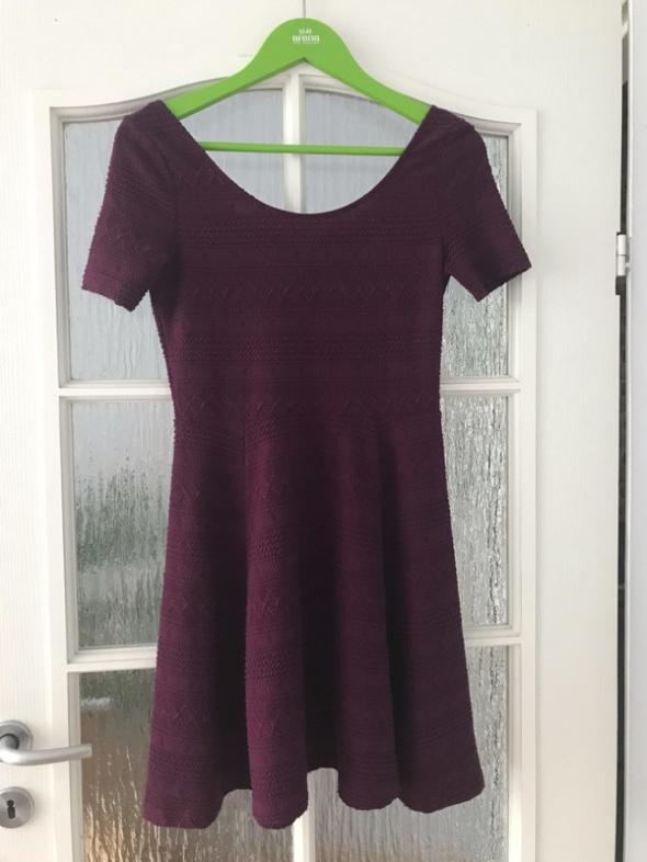 bordowa sukienka h&m 36 s...