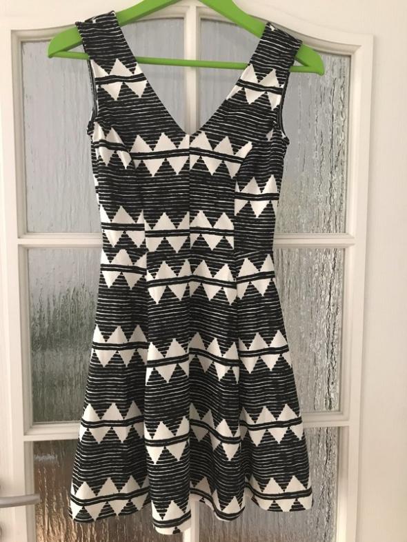 sukienka h&m wzory 34 xs...