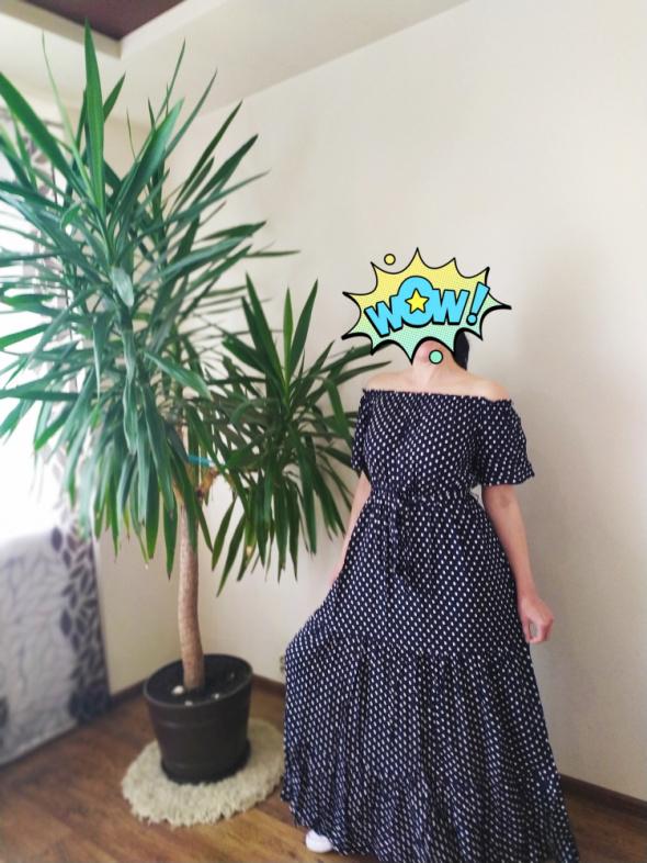 Sukienka maxi hiszpanka granat...