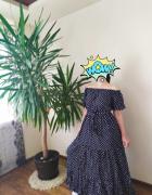 Sukienka maxi hiszpanka granat
