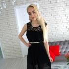 Czarna plisowana sukienka
