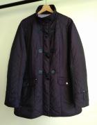 Pikowana kurtka w śliwkowym kolorze