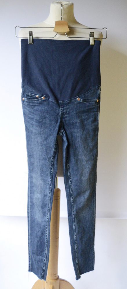 Spodnie H&M Mama XS 34 Super Skinny Postrzępione Nogawki...