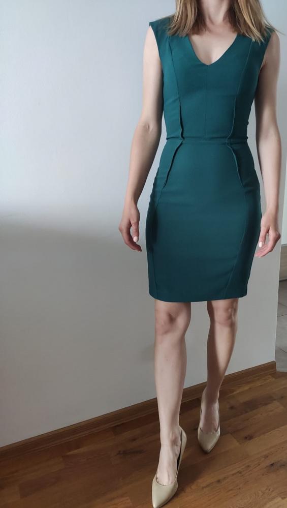 sukienka butelkowa zieleń...