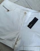 nowe białe szorty yessica 40