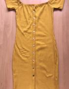 Musztardowa sukienka midi...