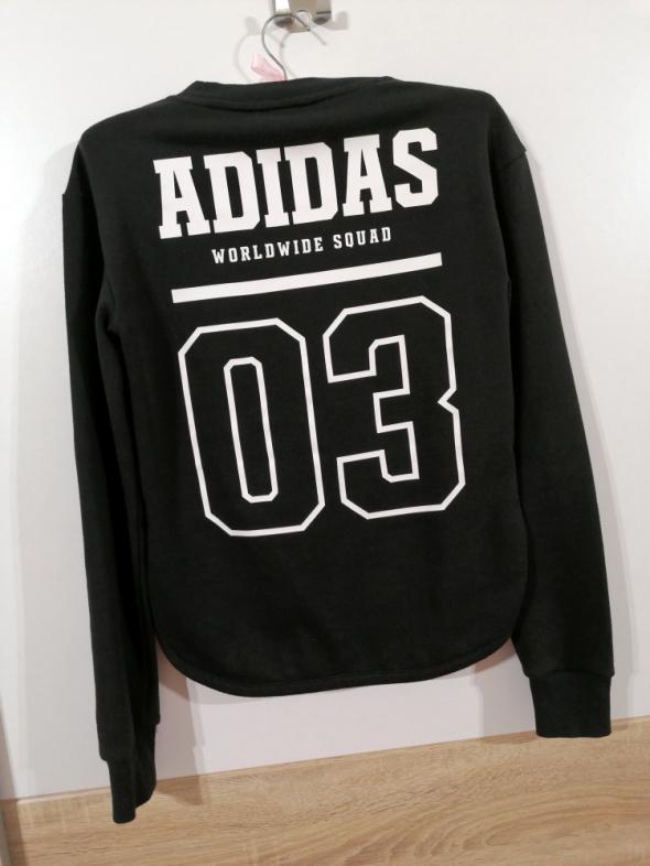 ADIDAS bluza worldwide squad czarna XS idealna napis na plecach