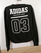 ADIDAS bluza worldwide squad czarna XS idealna napis na plecach...