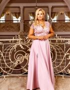 różowa SUKIENKA maxi kolory rozmiary 36 54 duże rozmiary...
