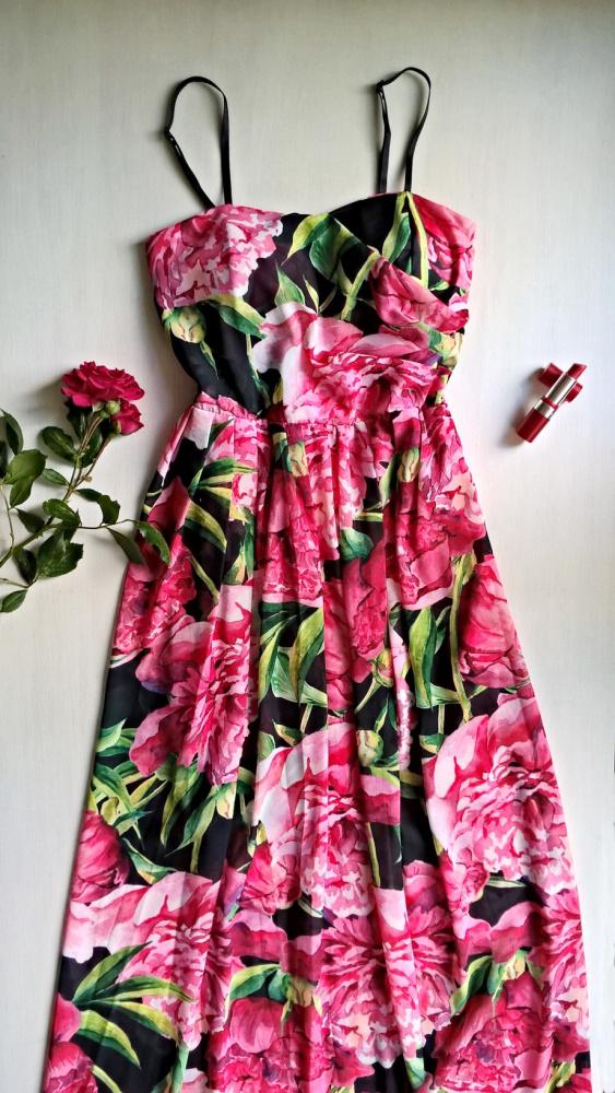 Nowa sukienka w kwiaty XS S wesele impreza