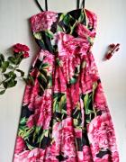 Nowa sukienka w kwiaty XS S wesele impreza...