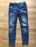 jeansy rurki 34 dziura c&a...