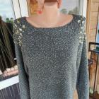 Cudowny srebrny sweterek