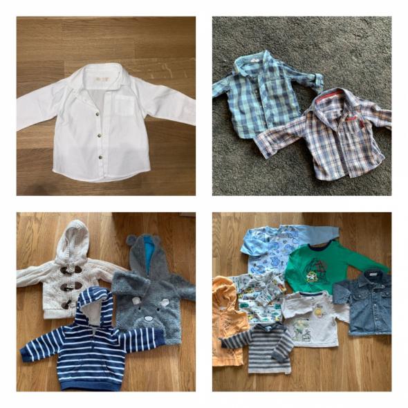 Komplety 56szt 74 92 spodnie bluza czapka kurtka koszula szorty buty 22