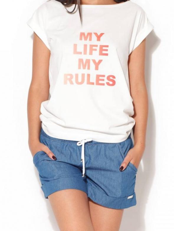 szorty M luźne cienki jeans