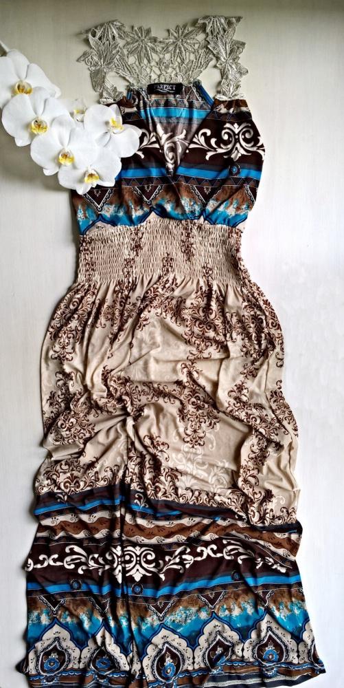 Długa sukienka z koronką S M L