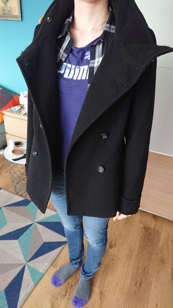 Płaszcz damski czarny H&M rozmiar M...