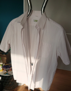 Koszula męska biała z krótkim rękawem L