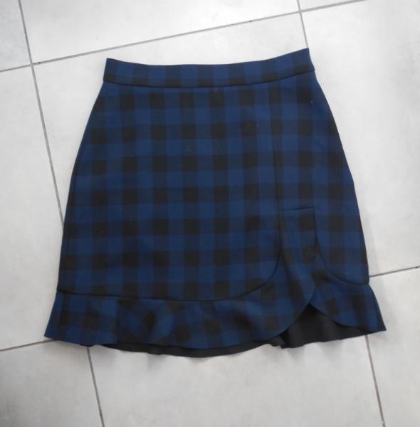 Zara spódnica mini kratka falbanka uczennica...