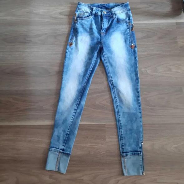 Spodnie jansy dżinsy wysoki stan...