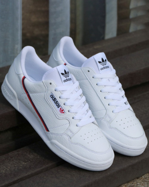 Sportowe Buty damskie adidas continental 80 białe