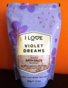 Sól do kąpieli z morza martwego o zapachu fiołka I Love Violet ...
