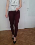 Bordowe jeansy H&M...