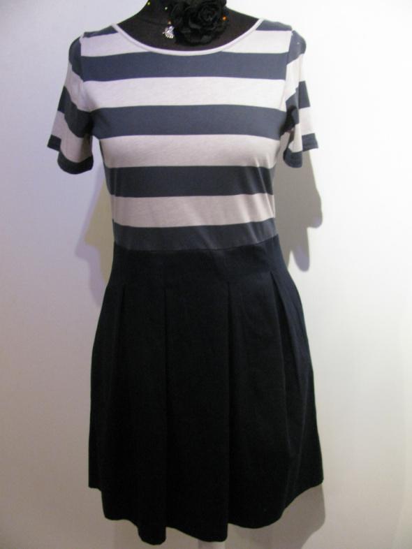 Suknie i sukienki CLOSET NOWA MARYNARSKA SUKIENKA W PASY ZIP 40 42