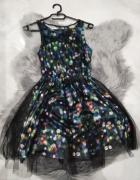 Sukienka w kropki z tiulem h&M rozmiar 34...