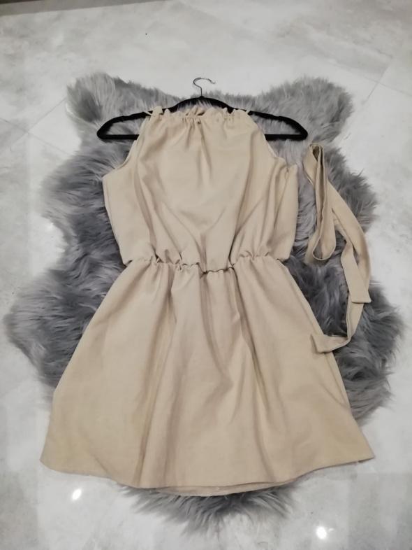sukienka beżowa rozmiar XS 34...