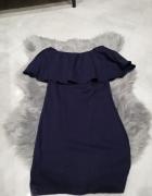 Granatowa sukienka hiszpanka rozmiar S