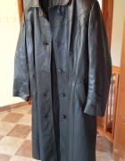 Płaszcz skórzany Matrix czarny z paskiem skóra cielęca najlepsz...